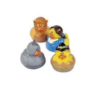 Wizard of Oz Theme Rubber Duckys - 12 pc