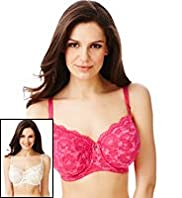 2 Pack Per Una Floral Lace Non-Padded DD-GG Bras with Supima® Cotton