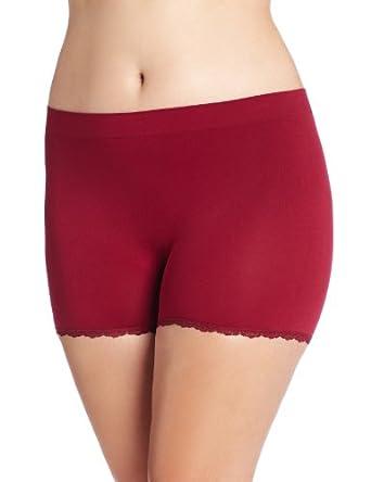 Maidenform Women's Pure Genius Seamless Laced Boyshort Panty, Timeless Ruby, 8