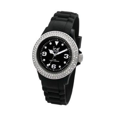 Ice-Watch Stone Sili Black-Silver Black Dial Women'S Watch #St.Bs.S.S.09