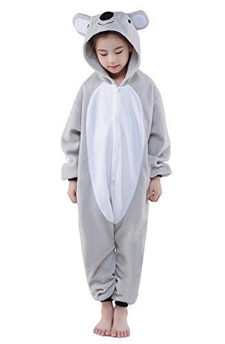 Newcosplay Unisex Children Koala Pyjamas Halloween Kids Onesie Costume (125) (Koala Kids compare prices)