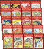 img - for THE MAGIC SCHOOL BUS READER COMPLETE 20-BOOK SET (Scholastic Readers, Level 2) (The Magic School Bus . . . The Wild Leaf Ride, Sleeps for the Winter, Lost in the Snow, Flies from the Nest, Takes a Moonwalk, Arctic Adventure, Has a Heart, Gets Crabby, Flies with the Dinosaurs, and the Missing Tooth, Rides the Wind, in the Bat Cave, Gets Recycled, Gets Caught in a Web, and the Shark Adventure, Fights Germs, Weathers the Storm, Blasts into Space, at the First Thanksgiving, and Builds the Statue of Liberty) book / textbook / text book