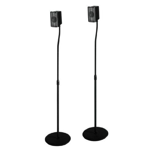 Hama-Lautsprecherstnder-2er-Set-hhenverstellbar-bis-123-cm-je-5-kg-belastbar-versteckte-Kabelfhrung-schwarz