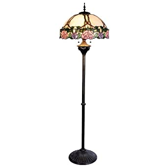 tiffany 3 light floor lamp lighting. Black Bedroom Furniture Sets. Home Design Ideas