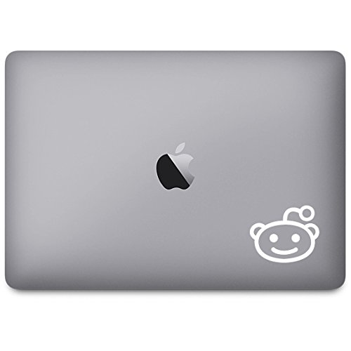 """By Decorainbow-""""Reddit Alien Head"""" x 2 (4"""",6"""") quotes apple macbook air retina 11"""" 13"""" 15"""" ipad Home Decoration bed, living, kitchen, beth room wall window computer car bumper decal sticker"""