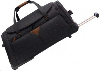 Stratic Rollenreisetasche NEWTON, schwarz/sattel,