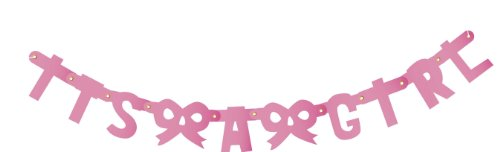 "Party Partners Design Itty-Bitty Jointed 20"" Letter Banner: It's a Girl, Pink"