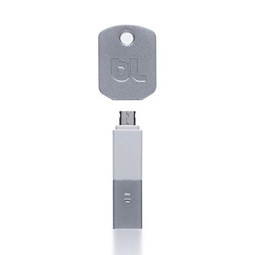 BlueLounge Kii Micro-USB鍵型アダプター ホワイト BLD-KIIMIC-WT