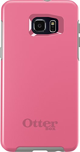OtterBox SYMMETRY SERIES Case for Samsung Galaxy S6 EDGE+ PLUS - Retail Packaging - PINK PEBBLE (HIBISCUS PINK/SLEET GREY) (Samsung Edge Note Otterbox compare prices)