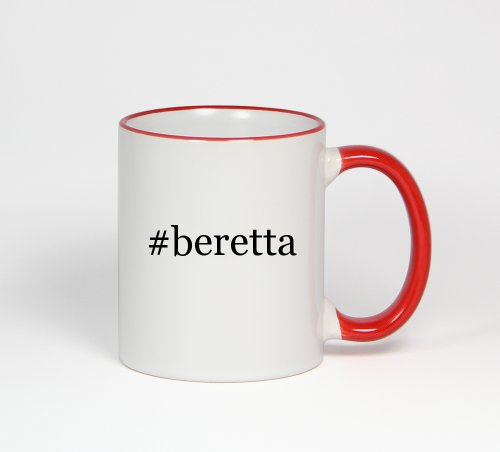#Beretta - Funny Hashtag 11Oz Red Handle Coffee Mug Cup
