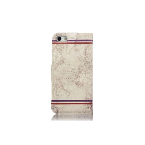 Primecases? Retro Vintage PU Leather Case Cover for Apple iPhone 5S (London Eye Postcard)