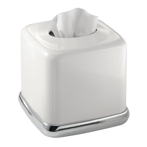 Interdesign york bath collection facial tissue box cover for Interdesign york