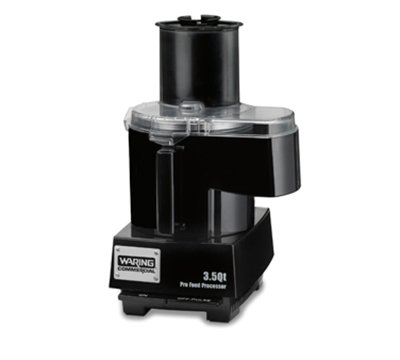 Waring Wfp14Sc 3.5-Qt Continuous Feed Food Processor W/ Polycarbonate Batch Bowl, Each