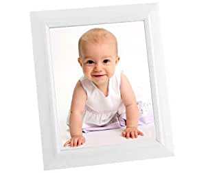 White Photo Frame - Picture Frame for 8x10 photos free-standing or wall mount