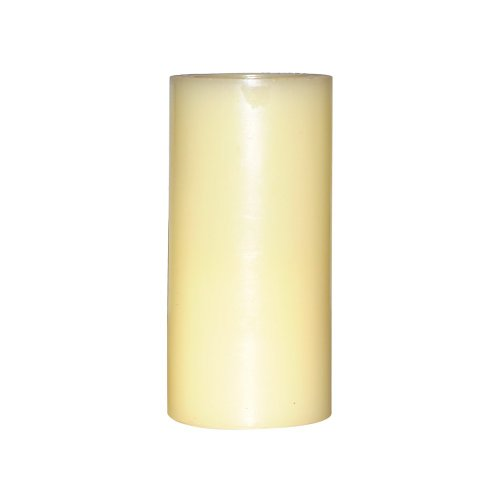 Dfl 3X5 Inch Flameless Real Wax Pilliar Led Candle With Timer,Battery-Operated,Ivory
