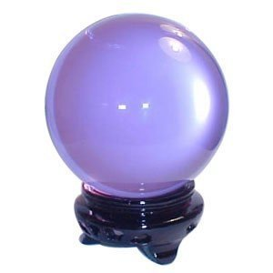 50mm(1.96 inches) Lavender Crystal Ball with Stand Beautiful As Display or A Powerful Feng Shui Tool