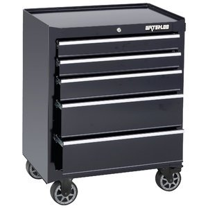 """Waterloo 26"""" 5-Drawer Tool Cabinet With Liners And Upgraded Casters, Black (Wca-265Bk-Cl"""