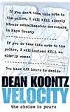 Velocity (0007197012) by Koontz, Dean R.