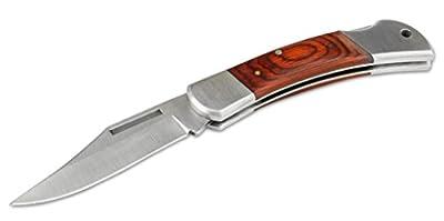 Brucks Dynasty Folding Hunting Knife with Sheath