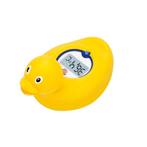 Mebby Floating Baby Bath Duck Thermometer (Yellow)