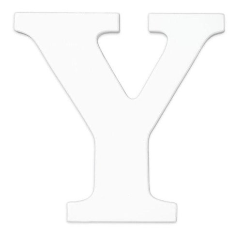 "Wooden ""Y"" Letter Hanging Initials Color: White"