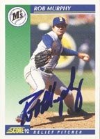 Rob Murphy Seattle Mariners 1992 Score Autographed Hand Signed Trading Card. by Hall+of+Fame+Memorabilia