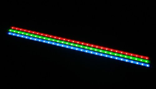 19.6 Inches Waterproof Rigid LED Strip Light Bar (LED Cabinet Light)-30 SMD5050 Bright LEDs-RGB Color(Red,Green,Blue Color Changing)- Come with Remote Controller