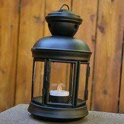 Metal Lantern For Flameless Candles, 4.75 X 8 In., Hexagonal, Black