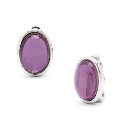 Rodney Holman Cabouchon Clip On Earrings - Purple