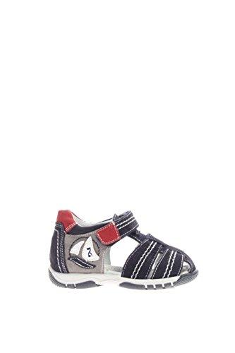 P623911M-200.Sandalo in pelle con strappo.Blu.23