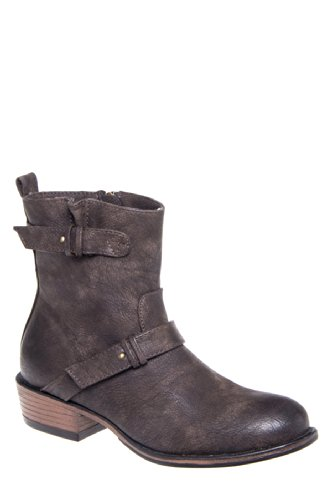 Good Choice Concept Chunky Low Heel Saddle Bootie