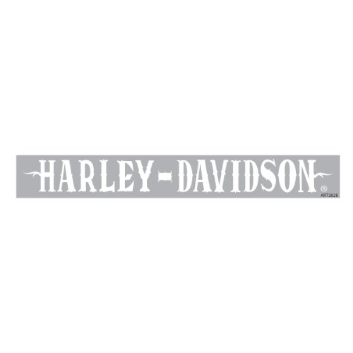 Harley-Davidson White Western Font Windshield Decal CG3760 (Harley Back Window Decals compare prices)