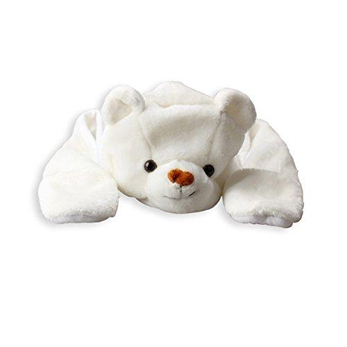 Vktech Erwachesene Kinder Mütze Hut + Schal + Handschuhe 3 in 1 (Eisbär)