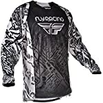 2012 Fly Racing Evolution Jersey (MEDIUM) (BLACK/WHITE)