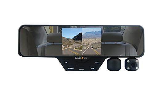 IncrediSonic Falcon Zero F-360 HD, Rear View, DVR Accident Video Recorder, Dual-Camera