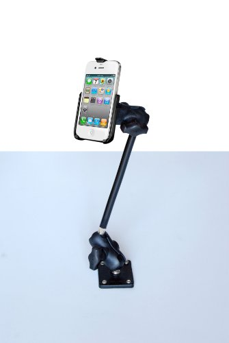 Parkermount® Iphone 4/4S Mount | The Only Rugged, Fixed Base Extension Mount For The Apple Iphone 4 And 4S Phone. With A Parkermount Your Iphone Is Held Firmly While The Display Is Accessible And Sensitive To The Touch Of A Single Finger. Includes A Multi front-444451