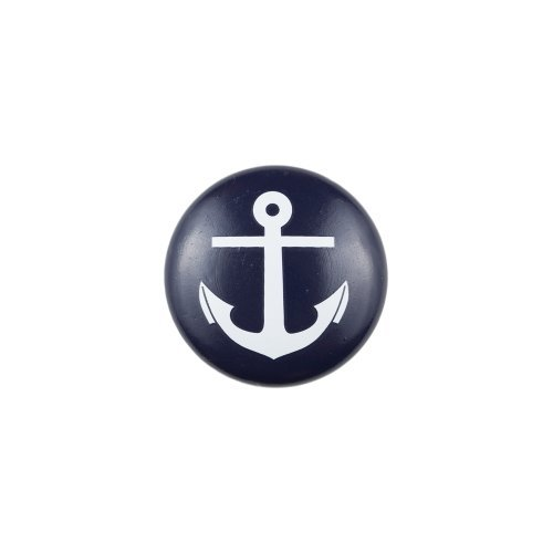 Youth Painted Knob (Blue Knob with White Anchor) by Sumner Street (Sumner Street Knob compare prices)