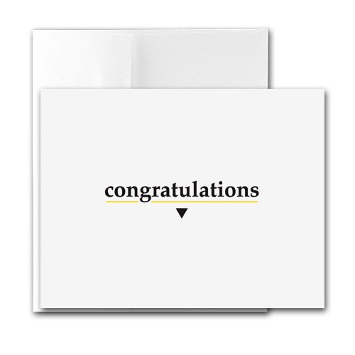 Buy Congratulations – Contemporary Printer-Compatible Note Cards, Box of 24 cards and envelopes