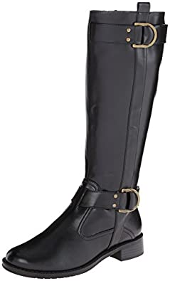 Aerosoles Women's Ride Line Riding Boot, Black, 5 M US