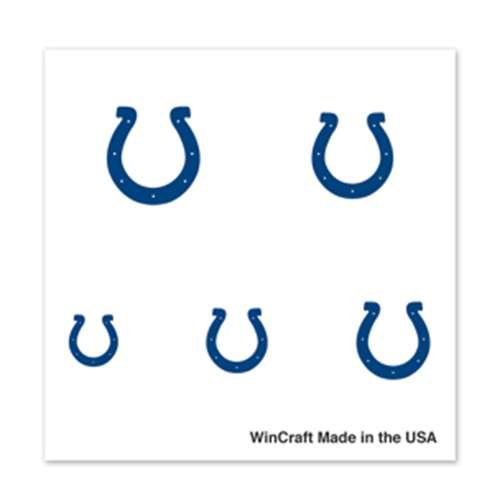 Indianapolis Colts Fingernail Tattoos - 4 Pack