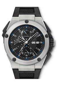 IWC Ingenieur Black Dial Rubber Mens Watch IW376501