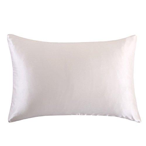 Learn More About OOSILK 100% Mulberry Silk Pillow Shams Cover with Hidden Zipper Standard 20x26 Inch...