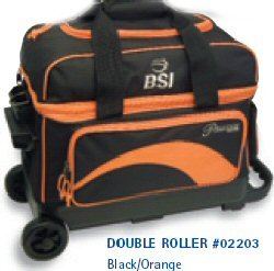 BSI Double Ball Roller Bowling Bag, Black/Orange