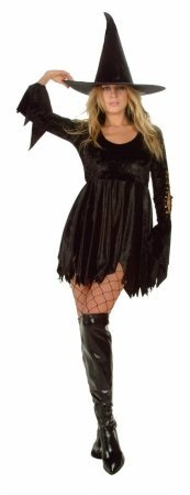 Sexy Witch w/ Hat - Velvet, Large Costume