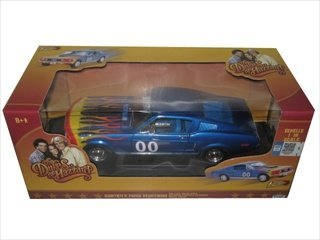"1968 Cooter's Ford Mustang GT #00 From ""The Dukes of Hazzard"" Movie 1/18 by Johnny Lightning 21957"