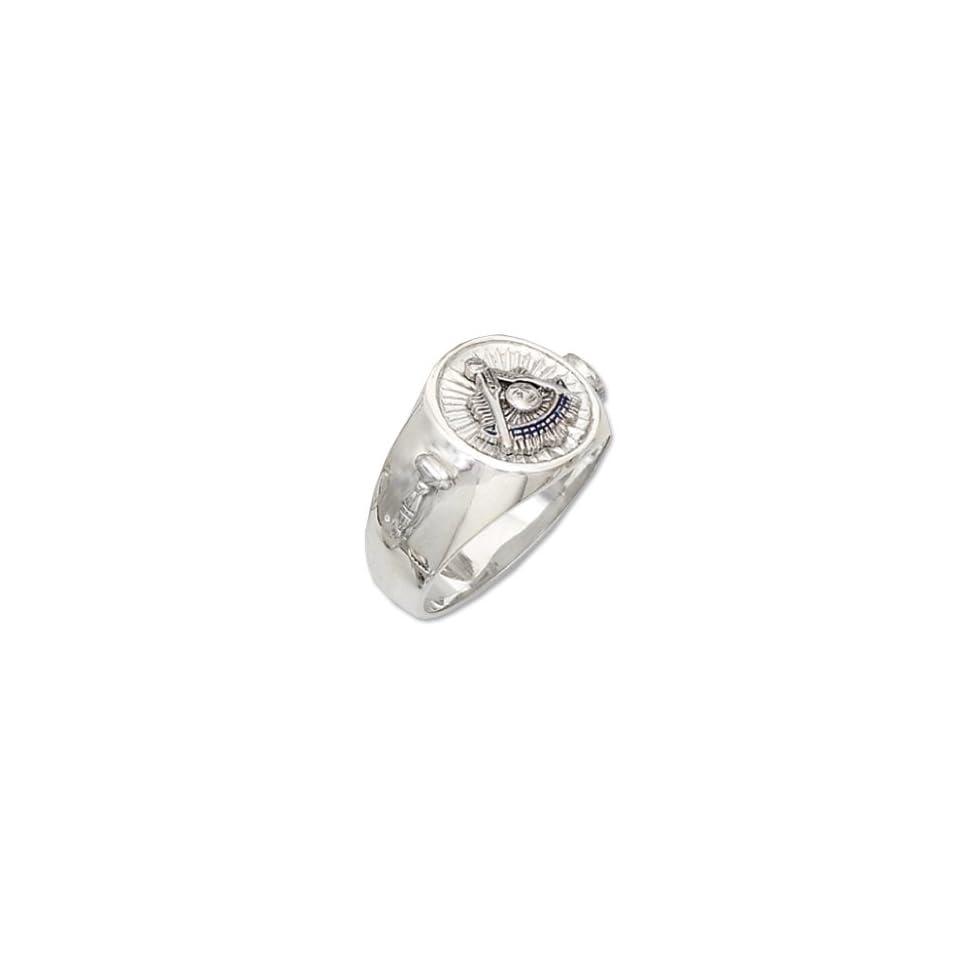 Sterling Silver Past Master Mason Ring