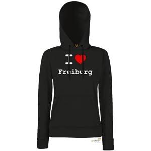 getshirts - Best of - Hoodie Damen - love - I love Freiburg