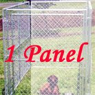 Lucy Dog CL 65005 10'L x 5'W x 6'H Chain Link Modular Panel Kennel