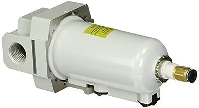 "PneumaticPlus SAF4000M-N04BD-MEP Compressed Air Particulate Filter, 1/2"" NPT, Auto Drain, Metal Bowl, 10 m"