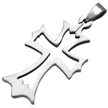 Gothic Cross Pendant in Stainless Steel